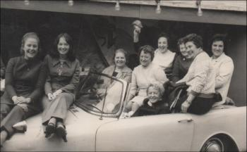 INA Bearings Factory  workers on a trip to Blackpool, 1975