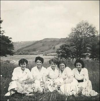 The girls of the Felinfach Creamery laboratory,  c. 1960