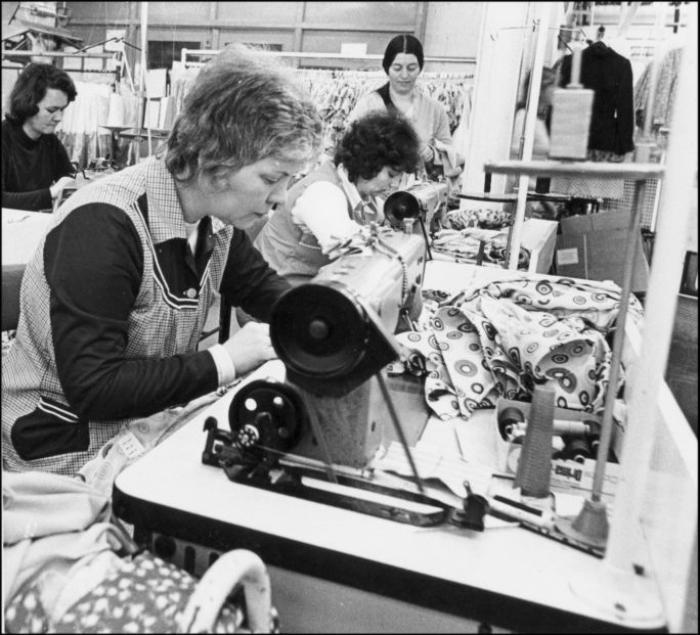 Patricia Whites Friend Jackie At Work In Loterys Newport C 1971
